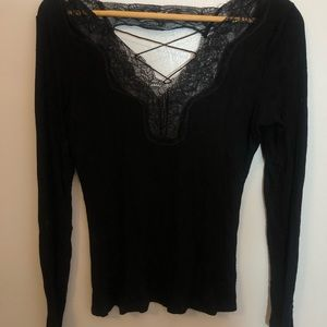 Black Jessica Simpson shirt with lace